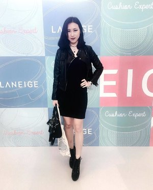 Thank you @laneigeid for inviting me to you event today. It was lovely event 😘  Wear my #DolceK from @kyliejenner 📸 : @iteiteite . . . #ladies_journal #clozette #clozetteid #laneige #ootd #beautyblogger #bblogger #beauty #event #indonesia #fashion #black #blackfashion