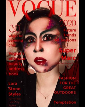 You guys seems enjoying the #voguechallenge trend so imma making my way to be on your next #vogue #voguemagazine  #ladies_journal #makeuptransformation #makeupartist #mua #beauty #halloween #halloweenmakeup #indonesia #indobeautygram #indobeautysquad #indobeautyvlogger #indobeautyblogger #clozette #clozetteid #tiktok #beauty #indovidgram #devilwearsprada