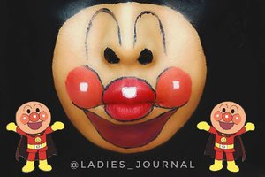 LMAO Sorry @chakacola your Anpanman become Clown 🤡 😭🤣🤣🤣 #ladies_journal #facepainting #facepaint #anpanman #anpan #sfxmakeup #sfx #mua #makeup #undiscovered_muas #clozette #clozetteid #makeuptransformation #halloweenmakeup #halloween