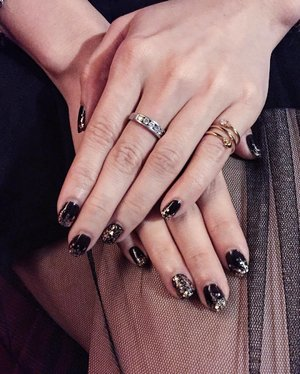 Getting my nails done as per what I requested. I blink my black for sure 💅🏻✨ Thank you @nailstore_byme 😘❣ . #ladies_journal #clozetteid #clozette #clozetteambassador #nails #nailswag #nailstagram #black #fashionstyle #style #notd