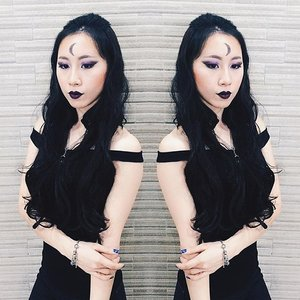 When darkness is my life 🌙 . . . #ladies_journal #clozette #clozetteid #makeup #makeupjunkie #makeuptransformation #beauty #asianbeauty #asiangirl #asian #darkmoon #black #edgy #goth #gothic #style #fashion #igsg #sgig #indobeautygram #bblogger #beautyblogger #bloggersg #sgblogger #indoblogger #motd #fotd #transformation