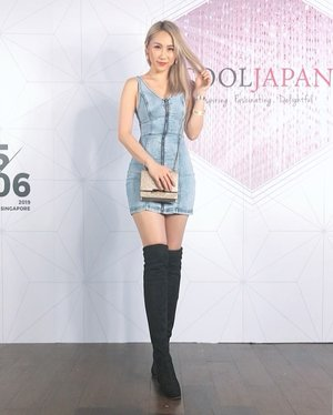 #OOTD during #CoolJapan Launch Party by @clozetteco and Cool Japan Fund.Thanks for having me and my friend 😊 📸 by @lyzpopz #ladies_journal #clozette #tgif #clozetteid #denim #asiangirls #fashion #beauty