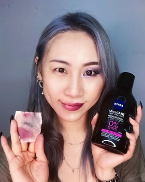 ⚠️<Swipe right!>⚠️ My current favorite makeup remover @niveasg Professional Micellar Water that easy removing my makeup, so gentle and the most important not irritating my skin at all. Not to forget that never left oily or uncomfortable feel on my skin after. I can just go sleep without washing my face after removing makeup 💁🏻😂 #lazypeopleproblems  I have been using it since the event and it's already half bottle because I am using it almost everyday even with my thick makeup and don't have to waste so much cotton pads for full face.  2nd picture: I am just using 1 pad for my half face. So for full face I just used 3 cotton pads in total ❣️ #ladies_journal #niveaprofessionalmicellarwatersg #niveasg #beauty #makeup #review #clozette #clozetteid