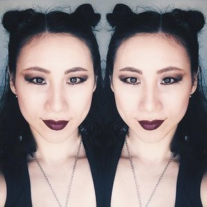 """Double Trouble"".Audacious Lipstick & Olympia Shades by @narsissist The Vamp Eyeshadow Palette by @marcbeauty Eyebrow Pencil 24hr Tattoo by @kpalette_sg Ivory Concealer by @cledepeaubeautesg .#clozette #clozetteid #clozetteambassador #selfie #beauty #makeup #makeupjunkie #makeupaddict #bblogger #beautyblogger #blogger #sgig #asian_girls_rock #asianmodel #asiangirl #asianbabe #asian #model #black #blackfashion #edgy #badass #gothic #style"