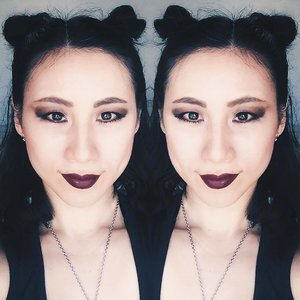 """Double Trouble"" . Audacious Lipstick & Olympia Shades by @narsissist  The Vamp Eyeshadow Palette by @marcbeauty  Eyebrow Pencil 24hr Tattoo by @kpalette_sg  Ivory Concealer by @cledepeaubeautesg . #clozette #clozetteid #clozetteambassador #selfie #beauty #makeup #makeupjunkie #makeupaddict #bblogger #beautyblogger #blogger #sgig #asian_girls_rock #asianmodel #asiangirl #asianbabe #asian #model #black #blackfashion #edgy #badass #gothic #style"