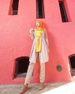 udah kek tiang listrik .. 😂 #hijabstyle #ootdhijab