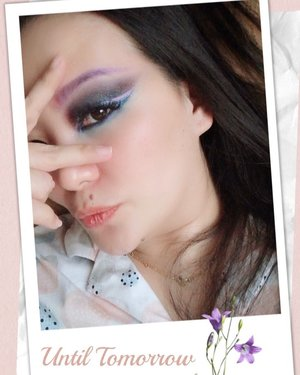 Until tomorrow 😜😜😜 Stay home, stay healthy, keep alive! 😘♥� • • • The best attempt I could do for taming my eyebrow at this moment, since you say YES on my instastory pool 😉  Pink peachy glittery eyeshadow ... 😆 • • • As crazy as it looks, I am using pyjama 😂 Just giving the last chance before my review up to my YouTube video @fanny_blackrose for the fast n furious and whatever makeup I love to play.  No attempt to complete the rest of face. I don't even remember what colours I play and blend in this eyemakeup 🙄 Hahahha ... as long as it makes me happy isn't it 💕 • • • #makeup #makeuptalk #clozette #clozetteid #clozetteambassador #makeuplife #makeupaddict #makeuplover #coloursmakemehappy #makeuppost #dailymakeup #makeupartist #stayhome #stayhomestaysafe #luxurybeauty #thankful #happy #blessed #grateful #idontplaniplay