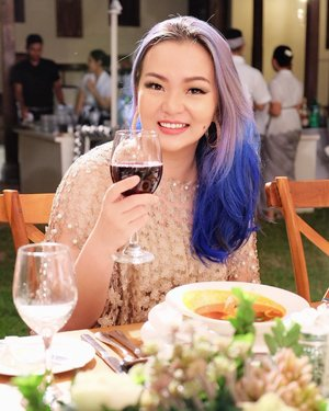#aboutlastnight 💙💖💜#midgealinegothitched .📷 @dianatanudihardja Gown @bramantawijaya #bramantawijaya #fashiondesignerindonesia .#manicpanic #threecosmetics #threecosmeticsmy #threeflawlessbase #threeflawlessbabe #thewlashesofficial #thewlashes #yslbeaute #yslmalaysia #yslsingapore #yslindonesia #wine #redwine #dinner #wedding #bluehair #purplehair #happy #precious #moment #precioustime #clozette #clozetteid