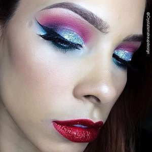 My collab partner @crystalsmakeupdesign 💖✨ I wish I am as good as her ... someday 🙏❄️️✨ She is using: #GlamaGirlCosmetics in Fire Hot for my eyeshadow @Tarte matte lipstick in Bae Lipliner by @Nars in Cruella  @EstéeLauder Limited addition All Over Shimmer on my cheeks and  Mink Lashes by @DoDoLashes in 3D D119#Christmas #christmasmakeup #christmascollab #makeup #makeuppost #makeuptalk #makeupaddict #cooltones #cool #clozetteID #makeupmafia #mua #makeupartist  Can't wait to another collab 💖✨