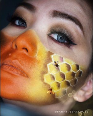 """To be successful, one has to be one of three bees - the queen bee, the hardest working bee, or the bee that does not fit in."" ― Suzy Kassem, Rise Up and Salute the Sun: The Writings of Suzy Kassem ••• #bees #beesmakeup #bee #makeupdetails #makeup #makeupartist #makeupost #makeuplife #makeuptalk #mask #mask4all #maskawareness #clozette #clozetteid #sugarpill #hakuhodo #makeupartistry #queenbeesofmakeup #livingmybestlife #blessed #thankful #grateful #idontplaniplay #blackroseartproject"