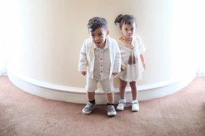 Friendship since diapers time. You must always got her back my son . Captured by @pwgdochi  #kids #friendship #fashionbaby #clozetteid