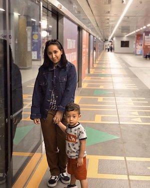 Know that i love you always my son.  #theshonet #jakartamrt #family #clozetteid