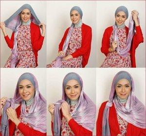 fun in bold color hijab