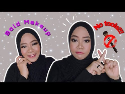 Bold Makeup Pakai Jari || No tools at all || Makeup Collaboration with Nixiebeaute.id - YouTube
