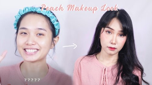 (eng/ind) Tutorial Peach Makeup Look - YouTube
