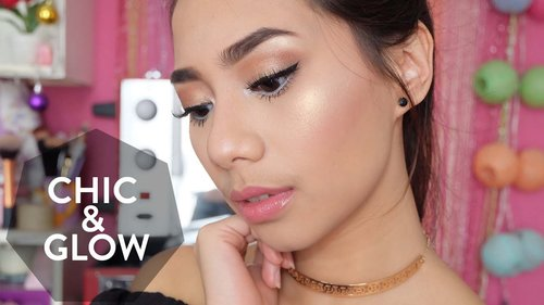 Chic & Glowing Neutral Make up Tutorial - Abel Cantika - YouTube