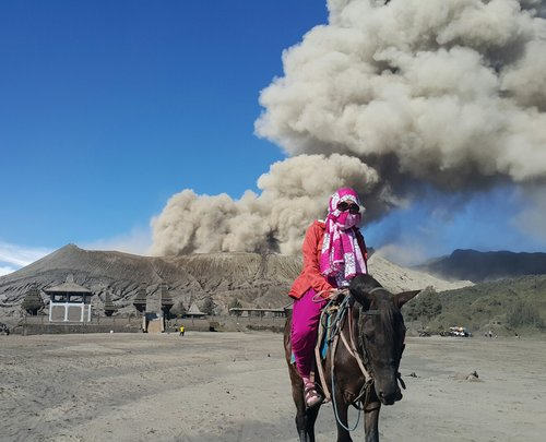 When Mount Bromo erupted