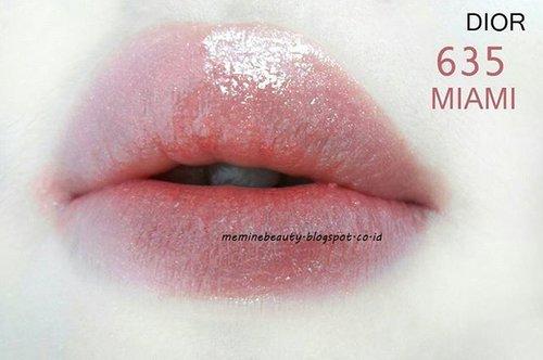 @diormakeup Addict Lipstick 635 Miami ❤Hasilnya glossy + Uncrack di bibir. Suka warna naturalnya.Yang coba pasto addicted deh 😆#dioraddict #diorlipstick #635 #Miami #swatches #swatch #lipswatch #Review #meminebeauty #ClozetteID