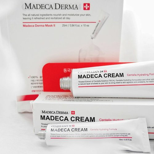 """Tadaaaa... this is my ACNE RESCUE KIT! I've used Madeca Cream & Madeca Derma Mask for healing my """"break out"""" and look at the result! My skin get better and healthier after using this product ❤  Read my completely review on my blog with tap the link in my bio!💋 Ahaa, I give you something special for you who want to buy this acne rescue kit on my shop at hicharis.net that already offer you the lowest price 😉 - Extra 5% Off 🖒 - FREE gift (worth $9)🖒 - FREE shipping 🖒  No more worries about your pimple!👋 Go check my review now to get natural flawless skin 💖 #ACNERESCUEKIT #MADECACREAM #MADECADERMAMASK #CHARISPICK #CHARIS #CHARISCELEB #ClozetteID @Charis_official"""