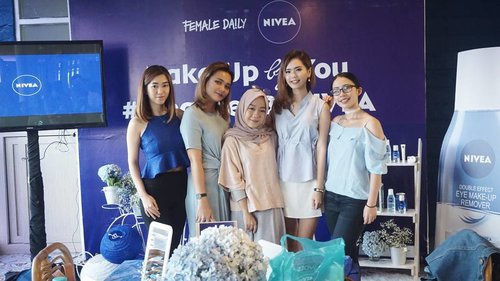 Attending event @nivea_id with beauty blogger/vlogger from @femaledailynetwork ❤ Can't move on from this event 😍 #cleansedbynivea #FDxNivea #ClozetteID
