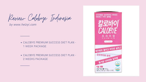 Review Calobye Indonesia: Premium Success Diet Plan