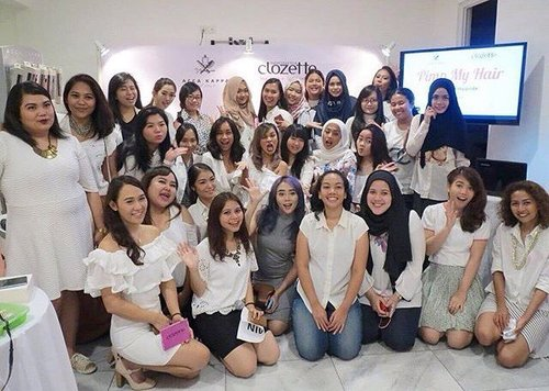 Super fun today with @accakappa_id @endermo_id @alorabeauty @Sociolla and also thank you so much to @clozetteid #clozetteid #MyHairMyPride #MyAccaKappaHair #clozettexaccakappaxsociolla 🤗👭👭👯😍😝🎉