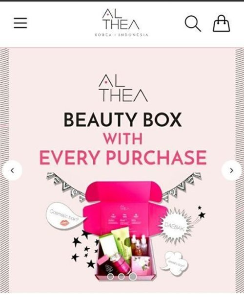 @altheakorea will launch their online shop soon . I'm waiting my first purchase with lovely beauty pink box from them  #altheakorea #altheaid #altheabeautybox #beauty #beautybloggers #indonesiabeautyblogger #clozetteid