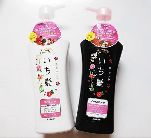 Kracie Ichikami Shampoo and Conditioner, Japan product sale 50% until February 28th,2016 just ( Rp. 35.800/item or similar like 3$ ) at @aeonstore_id grab it fast while available for beauty lovers 😘😘😘😘 Review soon on my blog and actually I have been try this Shampoo and Conditioner  #clozetteid #beauty #hair #haircare #kracie #ichikami #shampoo #conditioner #japanproducts #beautybloggers #indonesiabeautyblogger #ibb #인스타그램 #팔로우 #맞팔 #맞팔해요 #데일리 #뷰티 #뷰티스타그램 #뷰티블로거 #블로거 #셀카스타그램 #셀피스타그램 #셀카 #셀피 #2016년 #일본제품