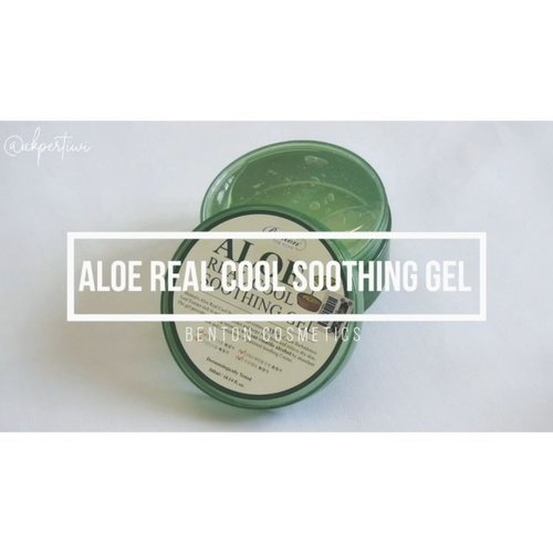 🌱 @bentoncosmetic Aloe Real Cool Soothing Gel 🌱  Are you looking for multifunctional products without volatile alcohol, artificial coloring, and fragrance? Benton Aloe Real Cool Soothing Gel is the answer!  So i got selected as tester for newly launched product by Benton, and surprisingly i fell in love with this product! So here's my mini review on Aloe Real Cool Soothing Gel: 🌱PACKAGING - Comes in big size jar, 300ml. With separator inside but no spatula included. Make sure you have clean fingers before dipped them onto the gel. Don't share with other people directly to prevent bacterial contamination. 🌱INGREDIENTS - Based on Skincarisma, all ingredients has good EWG Rating. No potential skin irritant & sensitive skin friendly. It contains 93% Aloe Barbadensis Leaf Extract and potented compound called 'Soothing Cooler' made from botanical extracts which provides natural & gentle cooling sensation unlike other common soothing gel with alcohol. 🌱TEXTURE & AFTERMATH - light gel, colorless & odorless. Its a water-based product so it melts on skin and we can spread evenly easily. Quickly absorbs & no sticky feeling 💯 Perfect for people who love light moisturizer & provides fresh cooling sensation. No tingling sensation at all. 🌱MY THOUGHTS - Would suit any skin type but for extra dry skin, you'll need to apply hydrating toner & hydrating essence first. PAO is rather short (only 6M) and we should finish it quickly. Overall, this is the best aloe vera gel i've tried. Doesn't irritate my skin and good for my sensitive nose.  You can check the in-depth review on my blog www.akpertiwi.com 👌 (available tomorrow on July 24) *The product is gifted by Benton for testing purpose & what i wrote is my honest review based on experience*  #benton #bentoncosmetic #aloerealcoolsoothinggel #soothinggel #aloe93 #cooling #aloesoothinggel #skinsoothing #aloegel #aloecosmetics #aloe #aloevera #vsco #clozetteid #beautyenthusiast #beautyblogger #kbeauty #kbeautyaddict #kbeautyenthusiast