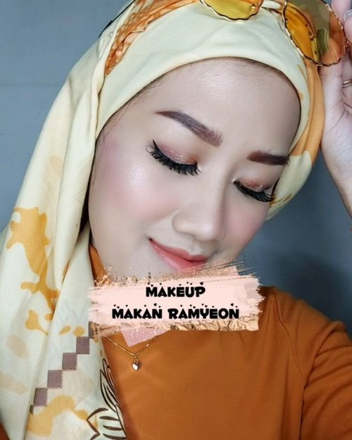 Diajak mas limin ngedate mamam ramyoen nih gaes! #ReadyWithMaybelline yuk, simple tapi glowing cuma 10 menit 😉 . Produk @maybelline yang aku pakai dalam video 🧡 Fit Me Foundation shade 220 Natural Beige 🧡 Fit Me Concealer 25 Medium 🧡 Fit Me Powder shade 128 Warm Nude 🧡 The City Mini Palette 5th Avenue Sunset 🧡 Hyper Sharp Liner black 🧡 The Falsies Lashlift Hydrofuge 🧡 Superstay Matte Ink Lip Color . Jangan kaget ya kalo nanti neng mamnya 2 porsi 😆 . . #MaybellineIndonesia #GetReadyWithMe #VideonyaJess #clozetteid #makeup #makeuptutorial  #makeuplooks #makeupaddict #newnormalmakeup #beautybloggerindonesia #makeuptutorialindonesia