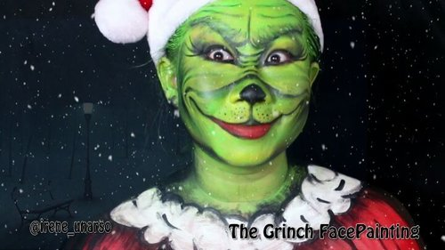 The Grinch Tutorial on my #youtubechannel !!!.Link on my bio, and i hope you can stop by and say hi 😍😘.----------------.tutorial face painting the grinch udh up di yt channel gw. Mampir, dan jangan lupa komen yaa 😊😊....@indobeautygram #ibv @indovidgram #ivg #ivgbeauty #clozetteid #fdbeauty #jasafacepainting #facepaintingjakarta #creativemakeup #madeyewlook #glamandgore #christmaspainting #christmasmakeup #thegrinch #moviecharacters #christmasiscoming🎄