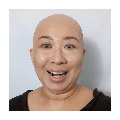 Biar botak yang penting alis on. Betul sodara sodara?? . . #baldcap #bald #baldisbeautiful #sfxmakeup #sfxmakeupartist #diy #clozetteid #fdbeauty #fiercesociety #specialeffectsmakeup #specialfx #jasamua #jasafacepainting #facepaintingjakarta