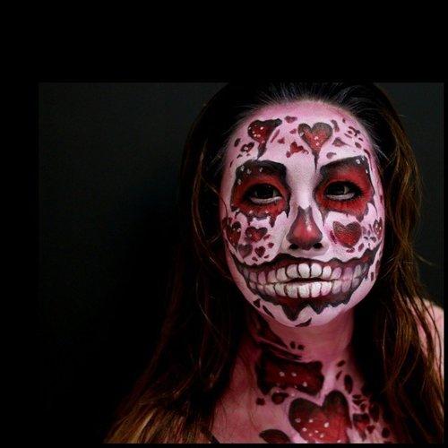 Closer look of my zombie valentine - recreate @jordanhanz  Im using @mehronmakeup #paradisemakeupaq basic palette white, red and black @nyxcosmetics primal color hot pink and @sugarpill bulletproof for this look  #beautygoesbad #jordanhanz #dehsonae #laurajsfx #mariamalone1122 #kellyjurado #lespinceauxdecaro #jinnymakeup #mehronmakeup #wakeupandmakeup #makeupartistkndonesia #belajarmakeupjakarta #facepaint #facepainting #illusionmagazine #bodypainting #specialeffectsmakeupartist #instamakeup #instamua #muajakarta #mykie_ #misfitsofbeauty #beautybybelinda #clozetteID #fotdibb #potd #MOTD