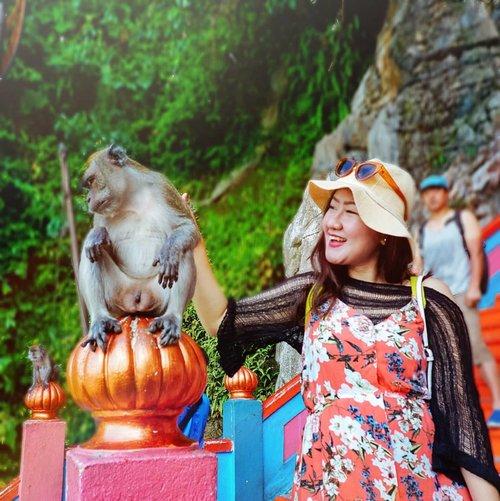 17+ _ Monkey aja manjda aku belai #ehh gmn kamu ??? 😂 [ No sensor ] . . . . . #clozetteid #batucavesmalaysia #batucaves #exploremalaysia  #travelbloggers #tblogger #travelblogger #thattravelblog #wanderlust #bloggersofinstagram #travelpreneur #bloggerlife #bloggerslife #travelgram #instatravel #travelblog #travelmore #lovetotravel #travelphotography #digitalnomads #postcardsfromtheworld #travellifestyle #doyoutravel #adventureseeker