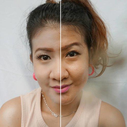#HalfFaceChallenge #clozetteid#PondsInstaBright #InstaBright #makeuptime #makeupgoals #professionmakeupsponge #makuplife #fromwhereistand #beautylife #beautysupplies #makeuptools #blendinglife #makeupwhore #flawlessmakeup #makeupblender #makeupgoals #flawlessfoundation