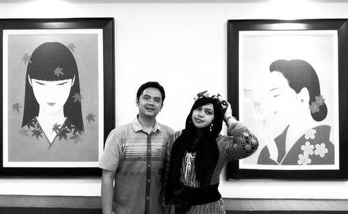 LATEPOST: Tue, Nov 15th, 2016 ---- photo credit: bu Ingrid hehe ....#celebration of all things , feel #grateful as always ! at #Hanamasa MargoCity #Depok 😉😇💕#Japanesefood #Indonesianfashion #style #ethnicfashion #friendship #clozetteID #hootd #ootd  #instamoment
