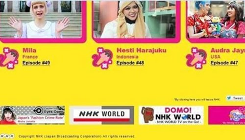 Tue, January 31st, 2017 --- 🎬🎥📺 I've just found this at #NHKWorld #Japan #website about #KawaiiInternational @kawaiiiofficial #kawaiireporter 😄 So nice .... Only 2 girls from #Asia who has been chosen as Kawaii Reporter ; me ( #HestiHarajuku ) and Kai from Singapore. 2 from #USA, Audra and my new kawaii friend @minakosakurai chan 💕 , 2 girls from #France (Mila and Marie) , others from #Bolivia (Kazumi), #Russia (Kseniya), & #Argentina (Violet) 🌸🌸🌸 Oyasuminasai, Minnasan! Be a #dreamer and makes your dreams come true ! 📺🎥🎬 @clozetteid #clozetteID #fashiontvshow #fashion #style #Japanstyle #TVProgram #TVShow #headscarf #modestfashion #modestwear #stylecovered