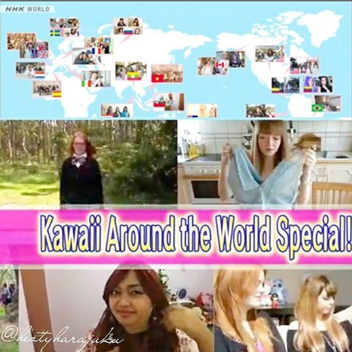 🎬🎥📺 Me #heztyharajuku at #NHKKawaii #International #TVShow, a #headscarf #style #tutorial ;#Episode39 on aired Saturday August 29th & Sunday 30th 2015 . #KawaiiAroundTheWorld #specialepisode 🎀🎬🎥 #NHK #NHKWorld #Japan #kawaiiculture #popculture #TokyoStreetFashion #fashion  #kawaii #modestfashion #coveredstyle #Harajukustyle #Shibuyastyle #scarf #kawaii #kawaiifashion #ClozetteID