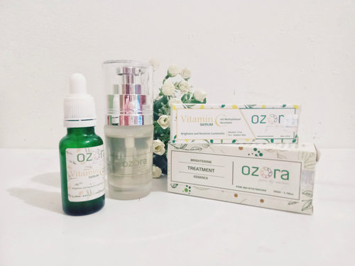 Review Ozora Skincare Brightening Essence dan Vitamin C Serum