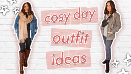 5 CUTE COSY DAY OUTFIT IDEAS // outfits for lazy + rainy days ♡ - YouTube