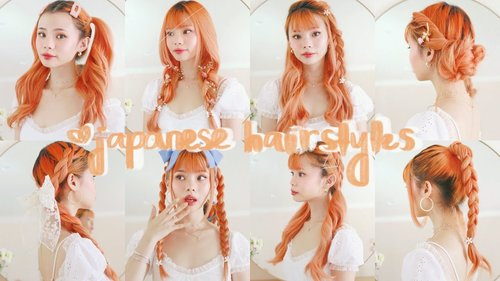 8 more cute & easy hairstyles from japanese fashion magazines 💛🍊 - YouTube