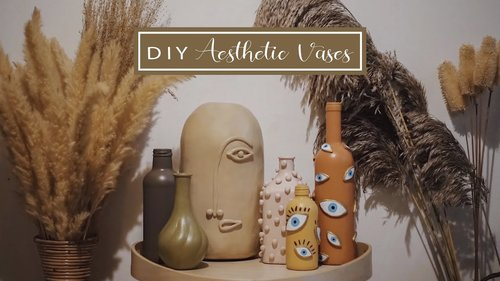 DIY Aesthetic vases | DIY  vas bunga aesthetic ala pinterest | DIY Indonesia - YouTube