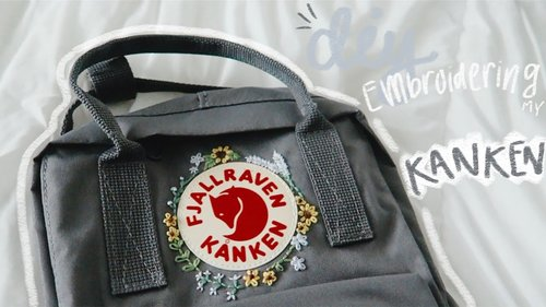 DIY EMBROIDERING MY FJALLRAVEN KANKEN BACKPACK :) - YouTube