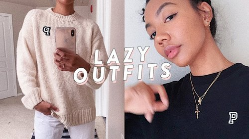 How To Style Outfits When You're Lazy lol - YouTube