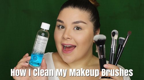 How I clean my Makeup Brushes | Cinema Secrets Dupe - YouTube
