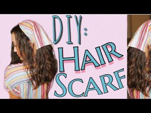 DIY Trendy Hair Scarf - YouTube