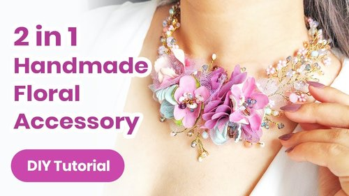 "<div class=""photoCaption"">2019 Summer DIY Headpiece/Necklace IDEA. Fantastic 2 in 1 Accessory With Flowers! 💜Jewelry Tutorial - YouTube</div>"