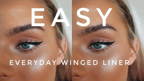 EASY Everyday Winged Liner for BEGINNERS - YouTube