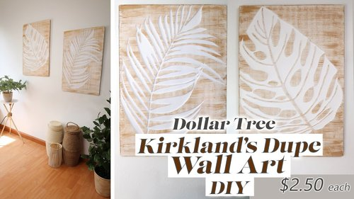 Dollar Tree DIY Kirkland's Dupe Wall Art / Boho Wall Decor DIY - YouTube