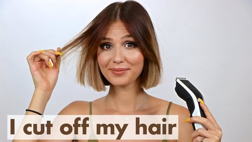 Cutting my hair off with Hair Clippers - YouTube